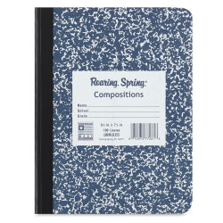 Roaring Spring Composition Notebook - Blank, Blue cover, 9-3/4'' x 7-1/2'', 100 Sheets