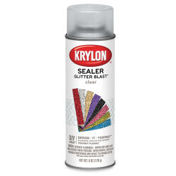 Krylon Glitter Blast Spray Paint - Clear Sealer, 6 oz can