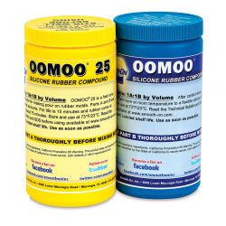 Smooth-On Oomoo 25 Silicone Rubber, 2.8 lbs