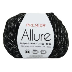 Premier Yarn Allure Yarn - Silver Shadow