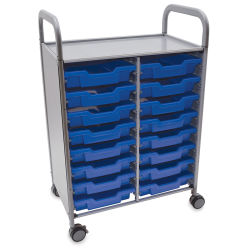 Gratnells Callero Storage Cart with 16 Shallow Trays - Royal Blue