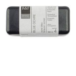 R&F Encaustic Paint Block - Blue Ochre, 104 ml block