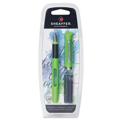 Shaeffer Viewpoint Calligraphy Pen - Broad Nib, Lime Barrel, with Cartridges