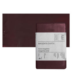 R&F Encaustic Paint Block - Magenta Earth, 333 ml, Block