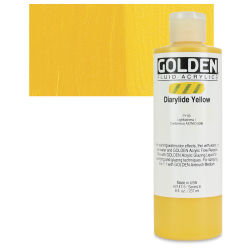 Golden Fluid Acrylics - Diarylide Yellow, 8 oz bottle