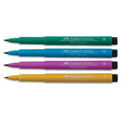 Faber-Castell Pitt Artist Pen Set - Jewel Lettering Colors, Set of 4, Brush Nib