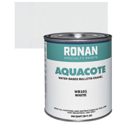 Ronan Aquacote Water-Based Acrylic Color - White, Quart