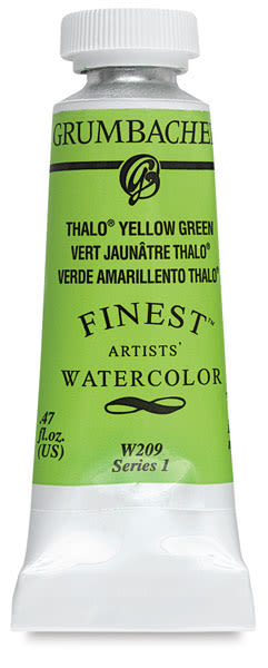 Grumbacher Finest Artists' Watercolor - Thalo Yellow Green, 14 ml tube