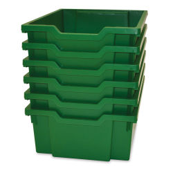 Gratnells Trays and Accessories - Deep Trays F2, Pkg of 6, Grass Green