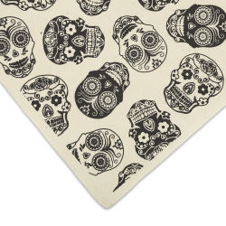 Lokta Paper - Sugar Skull, Black on Cream, 20'' x 30''