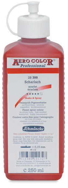 Schmincke Aero Color Professional Airbrush Color - 250 ml, Scarlet