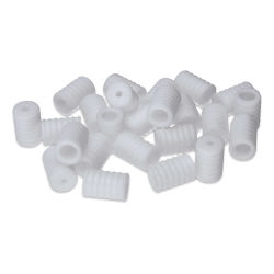Silicone Cord Lock, White, Cylinder, Package of 48