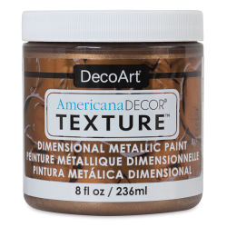 DecoArt American Decor Texture Paint - Deep Bronze Metallic, 8 oz