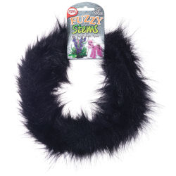 Pepperell Craft Fuzzy Stems  - Black, 9 ft