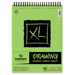 Canson XL Drawing Pad - 70 lb, Wirebound Top, 60 Sheets, 11'' x 14''