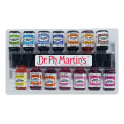 Dr. Ph. Martin's Radiant Concentrated Watercolor Set - 1/2 oz, Set of 14, Assorted, Set D