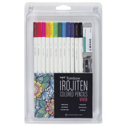 Irojiten Color Pencil Set - Vivid Colors, Set of 12