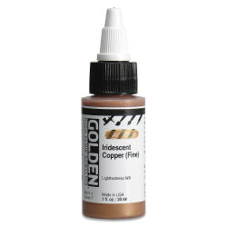 Golden High Flow Acrylics - Iridescent Copper (Fine), 1 oz bottle