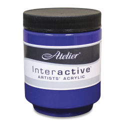 Chroma Atelier Interactive Artists' Acrylics - French Ultramarine Blue, 250 ml jar