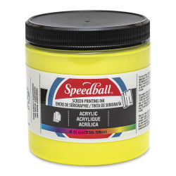 Speedball Permanent Acrylic Screen Printing Poster Ink - Primrose Yellow, 8 oz