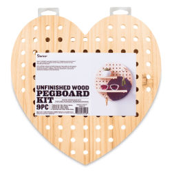 Darice Wood Pegboard System Kit - Heart Kit, 9 pieces
