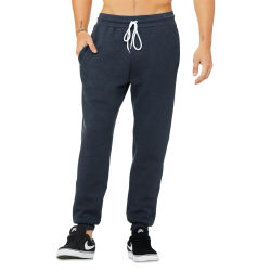 Bella Canvas Unisex Jogger Sweatpants - Navy Heather, Small
