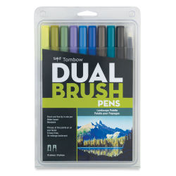 Tombow Dual Brush Pens - Set of 10, Landscape Colors