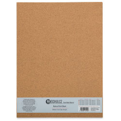"Schulcz Scale Model Cork Sheets - 11-3/4"" x 15-3/4"", 1 mm, Pkg of 5 Sheets (front of package)"