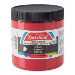 Speedball Permanent Acrylic Screen Printing Poster Ink - Dark Red, 8 oz