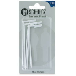 "Schulcz Scale Model Building Parts - Street Lights, Pkg of 5, 1:100, 1/8"" (front of package)"