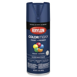 Krylon Colormaxx Spray Paint - Navy Blue, Gloss, 12 oz