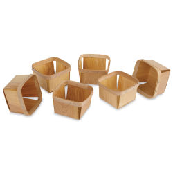 Berry Baskets - Natural Wood, Pkg of 6