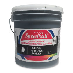 Speedball Permanent Acrylic Screen Printing Poster Ink - Black, Gallon