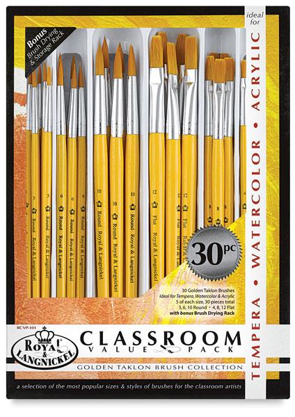 Round 30 Royal /& Langnickel R205-30 Jumbo Brush Medium Gold Taklon