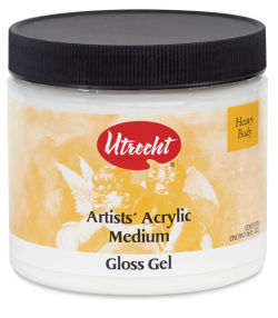 Utrecht Acrylic Medium - Gloss Gel Medium, Pint