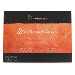 "Hahnemühle The Collection Watercolor Block - 9"" x 12"", 140 lb, 10 Sheets (front cover)"