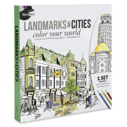 Spicebox Sketch Plus Landmarks & Cities Coloring Kit