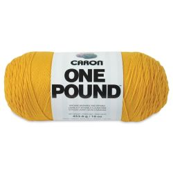 Caron One Pound Acrylic Yarn - 1 lb, 4-Ply, Sunflower