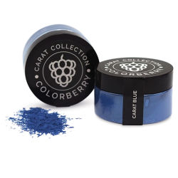 Colorberry Carat Collection Dry Resin Pigment - Blue, 50 g, Jar (Shown in and out of jar)