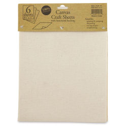 Harvest Imports Craft Sheets - Canvas, Pkg of 6 Sheets
