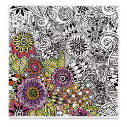 Design Works Zenbroidery - Floral, 10'' x 10''