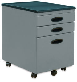 Studio Designs File Cabinet - Silver/Black