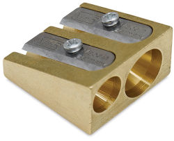 Mobius & Ruppert Wedge Brass Pencil Sharpener - Double Hole