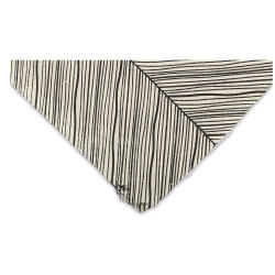 Lokta Paper - Herringbone, Black and Cream, 20'' x 30''