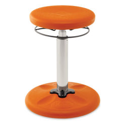 Kore Design Kids Tall Adjustable Chair - Orange, Shown at minimum height.