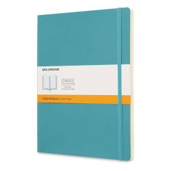 "Moleskine Classic Soft Cover Notebook - Reef Blue, Ruled, 9-3/4"" x 7-1/2"""