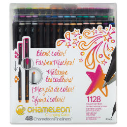 Chameleon Fineliner Pens - Set of 48, Assorted Colors
