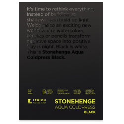 "Legion Stonehenge Aqua Black Watercolor Paper Pad - 5"" x 7"", 15 Sheets"