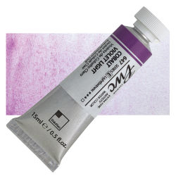 PWC Extra Fine Professional Watercolor - Cobalt Violet Light, 15 ml, Swatch with Tube