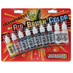 Jacquard Airbrush Paint - 1/2 oz, Transparent Exciter Pack